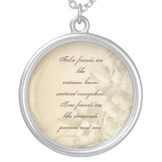 special friend silver plated necklace