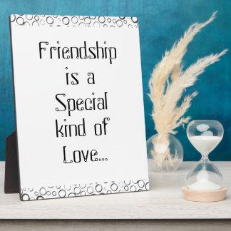Special Friendship Black Tiny Bubbles Plaque