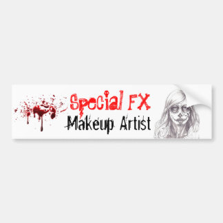 Special FX Makeup Artist Bumper Sticker