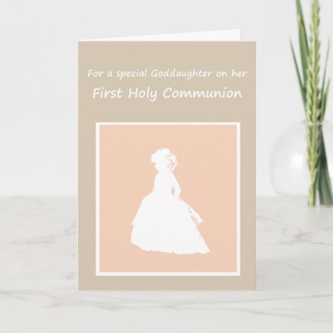 Special Girl, Goddaughter her First Holy Communion Card