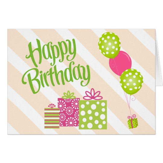 special girl u0026 39 s pink and green birthday card