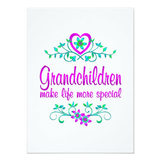 Special Grandchildren 5.5x7.5 Paper Invitation Card