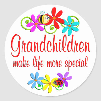 Special Grandchildren Round Sticker