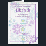"""Special Granddaughter Customizable Card<br><div class=""""desc"""">Special card for that special granddaughter,  customize it for any occasion: birthday,  graduation,  or just because.</div>"""