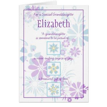 bellaxandra Special Granddaughter Customizable Card