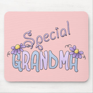 Special Grandma Flowers Mouse Pad