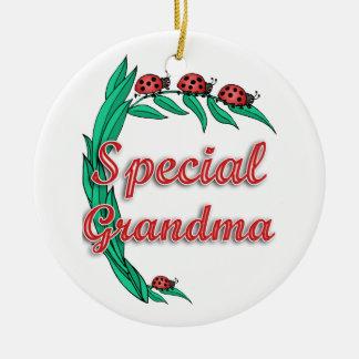 Special Grandma Ladybugs Ceramic Ornament