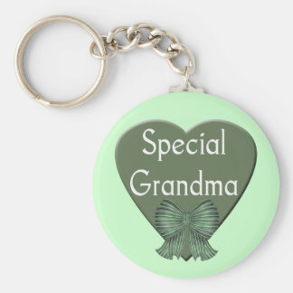 Special Grandma T-shirts and Gifts Basic Round Button Keychain