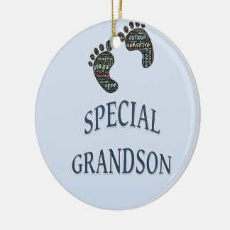 Special Grandson Ceramic Ornament