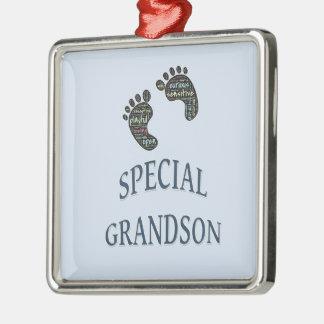 Special Grandson Metal Ornament