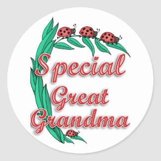 Special Great Grandma Mother's Day Gift Classic Round Sticker