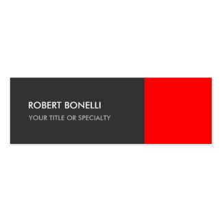 Special Grey Red Unique Elegant Standard Mini Business Card