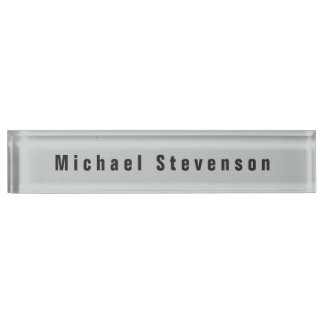Special Grey Unique Personal Business Nameplate