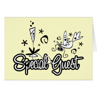 Special Guest Chiffon Yellow Greeting Card