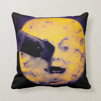 Special Halloween Edition A Trip to the Moon Retro Throw Pillow