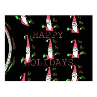 Special Happy Holidays Ho Ho Ho Ink Sketch Santa g Postcard
