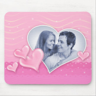 Special Hearts Photo Template Mouse Pad