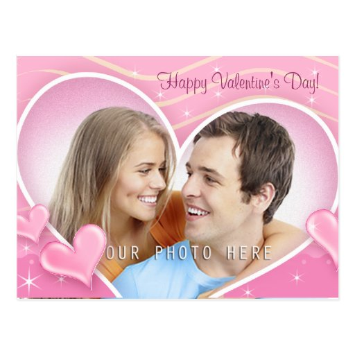 Special Hearts with Your Photo - Postcard