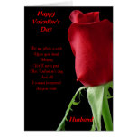 special husband valentine's day greeting card