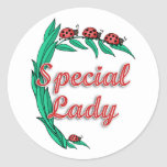 Special Lady Mother's Day Gift Round Stickers