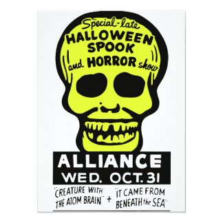 Special Late Spook and Horror Show 5.5x7.5 Paper Invitation Card