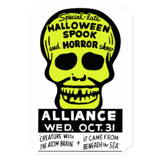 Special Late Spook and Horror Show 5x7 Paper Invitation Card