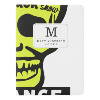 Special Late Spook and Horror Show Extra Large Moleskine Notebook Cover With Notebook