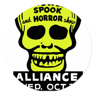 Special Late Spook and Horror Show Invitation