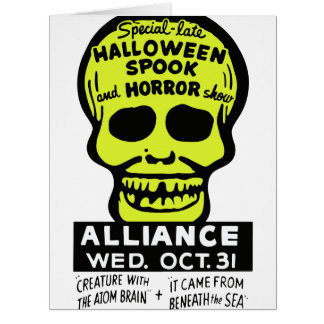 Special Late Spook and Horror Show Large Greeting Card