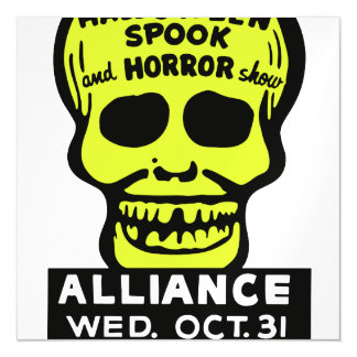 Special Late Spook and Horror Show Magnetic Invitations