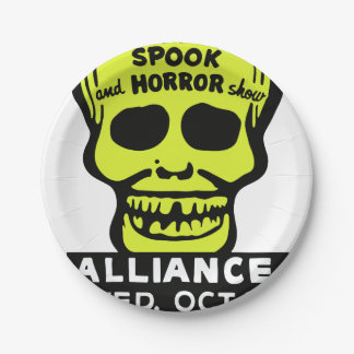 Special Late Spook and Horror Show Paper Plate