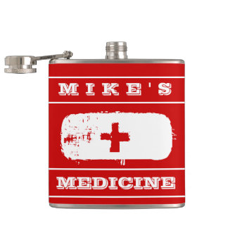 "Special ""Medicine"" Funny Flask for Him"