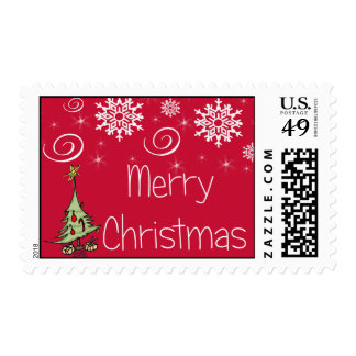 Special Merry Christmas Postage Stamp
