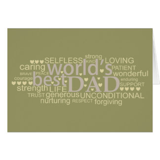 special message gift for 'best dad' Cards