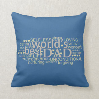 special message gift for 'best dad' Pillows