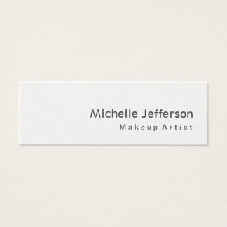 Special Modern Skinny Grey Makeup Artist Mini Business Card