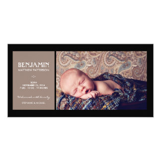 Special Moment Photo Baby Birth Announcement