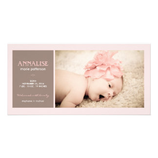 Special Moment Photo Baby Girl Birth Announcement