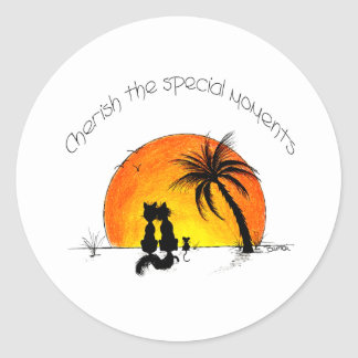 special moments classic round sticker