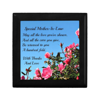 Special Mother-in-law Keepsake Box