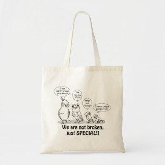Special need birds tote bag