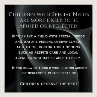 Special Needs abuse Patient reminder Poster