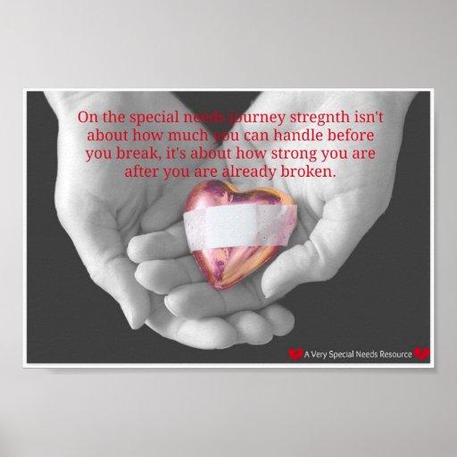Special Needs Broken Heart Poster