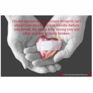 Special Needs Broken Heart Sculpture