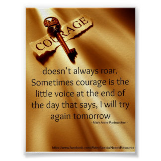 Special Needs Courage Poster