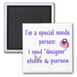 Special Needs - Designer Shoes & Purses 2 Inch Square Magnet
