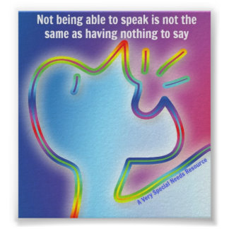 Special Needs Have Something to Say Poster