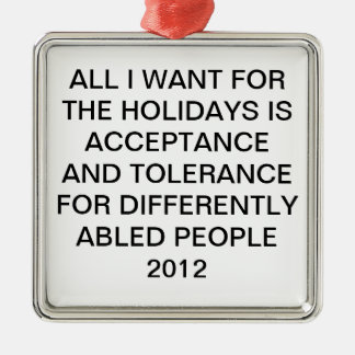 SPECIAL NEEDS HOLIDAY ORNAMENT