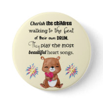Special Needs Kids Inspirational, Heart Songs Button