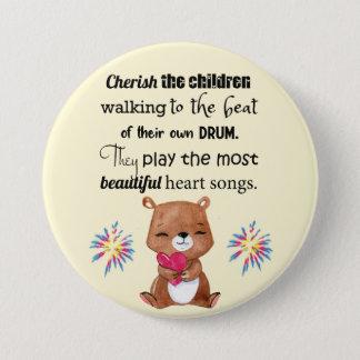 Special Needs Kids Inspirational, Heart Songs Button